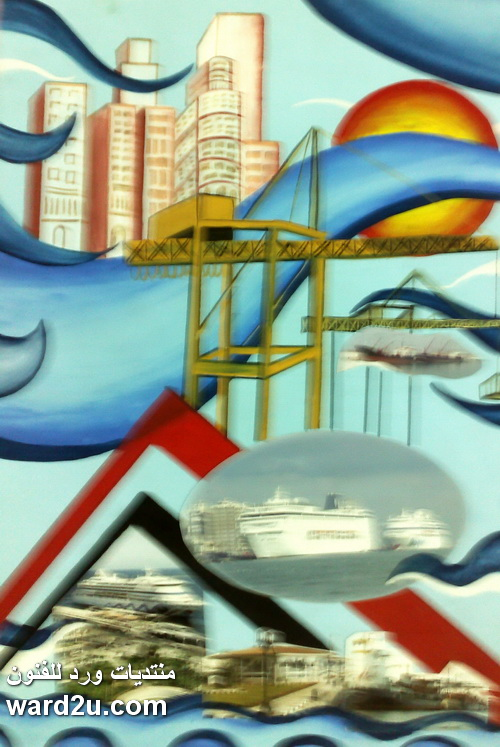 بورسعيد في معرض اللوحات الورقيه 2011