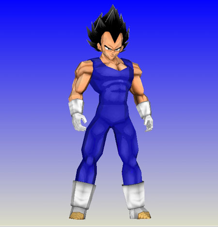 Dragon Ball Z Vegeta Papercraft