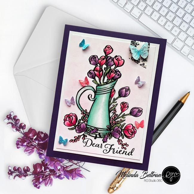 dear friend pitcher card-mej