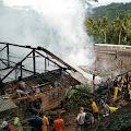 Diduga Akibat Kosleting Listrik,Rumah Milik Warga Desa Sinaresmi Habis Terbakar