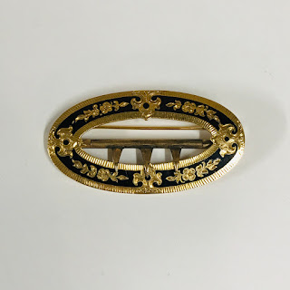 14K Gold and Enamel Brooch