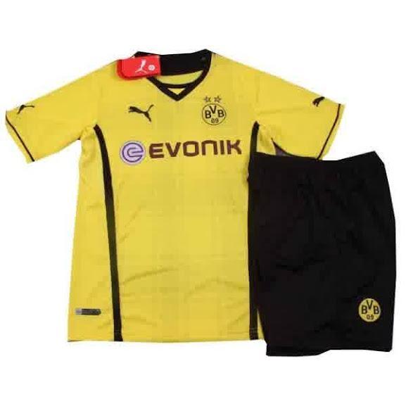 Jual Jersey Bola Anak Dortmund Home 2014