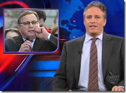 Jon Stewart with Lonegan-8x6
