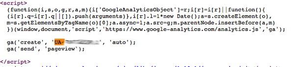 UA tracking code 2
