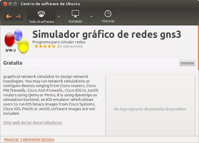 Instalar GNS3 en la distribución Linux Ubuntu 12.04 LTS
