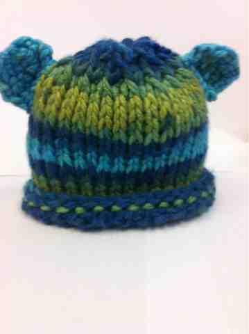 Jenns Yarn Addiction Tunisian Crochet Baby Bear Hat