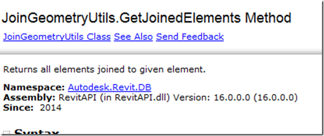 Get Joined Elements in #Revit with #DynamoBIM