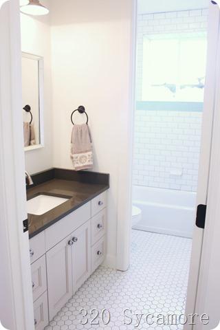 fixer upper bathroom hex tile