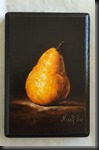 Yellow Pear on wood