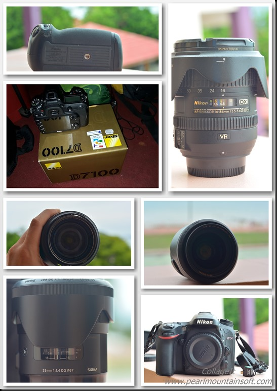 my camera collage