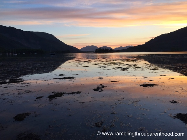 Watch the sunset over Loch Leven