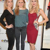 WWW.ENTSIMAGES.COM -     Ania Kubow, Rosie Parkes and Ashley James Whistle and  Bango Founders  at      Whistle and  Bango  launch party at Wolf and Badger, London October 23rd 2014Ashley James, Ania Kubow and Rosie Parkes are showcasing their new brand and bracelets at a celebrity studded press launch                                                 Photo Mobis Photos/OIC 0203 174 1069