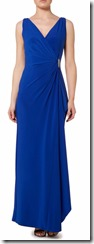 Lauren Ralph Lauren cobalt blue jersey full length wrap gown - black also