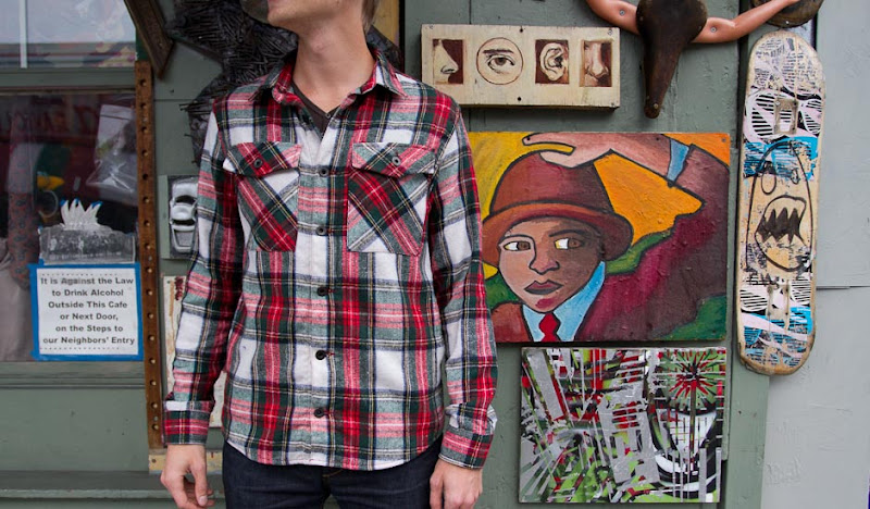 Red Plaid Flannel by artwork wall