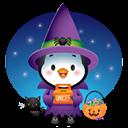 Pingüino Halloween - Buscando caramelos