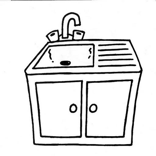 Pinto dibujos lavabo para colorear for Comedor para dibujar