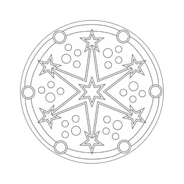 Mandala Coloring Pages Stars