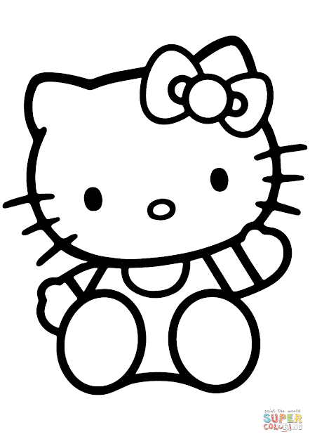 hello kitty coloring pages wallpapers for ipad   Best Free Hello Kitty Characters Coloring Pages Drawing ...