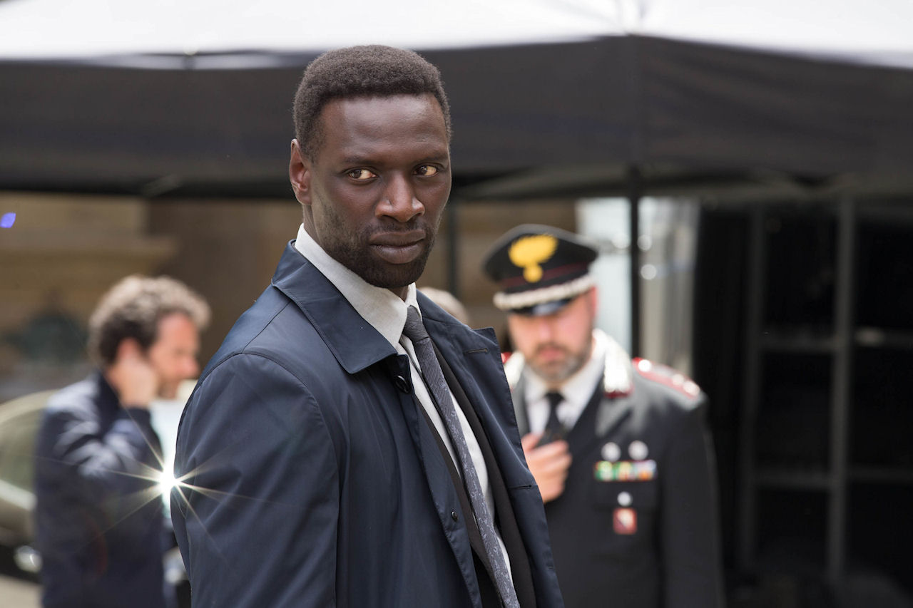 Omar Sy in INFERNO. (Photo by Jonathan Prime / courtesy of Columbia PIctures).