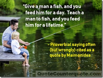 Give a man a fish photo quote QC