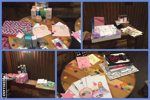 all the raffle prizes for the girl gang event