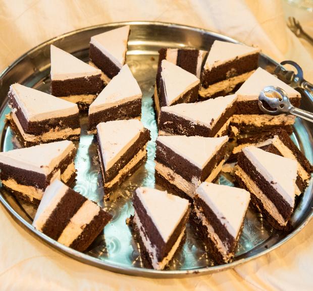 photo of slices of chocolate cake