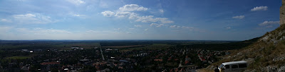 Panorama von der Burg mit Blick nach Norden