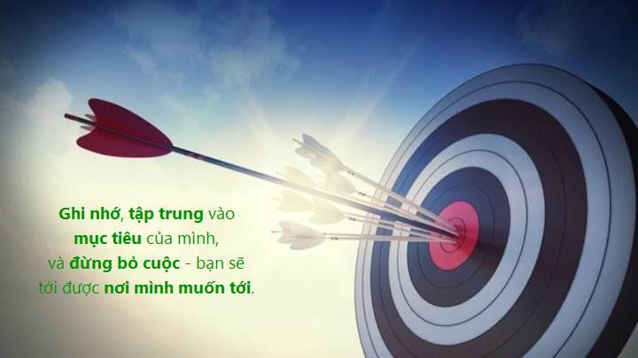 Luôn hướng tới mục tiêu, và đừng bỏ cuộc