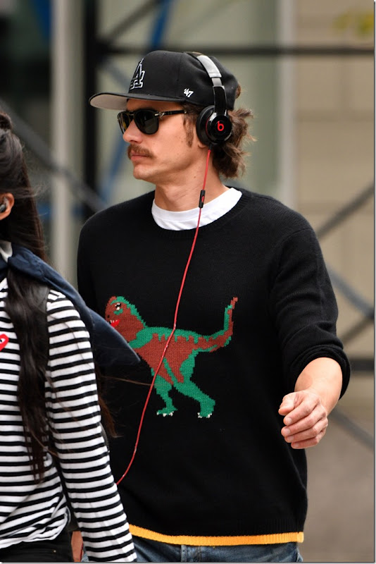 James Franco out and about with a friend in SoHo, Manhattan  Featuring: James Franco Where: Manhattan, New York, United States When: 28 Sep 2016 Credit: TNYF/WENN.com