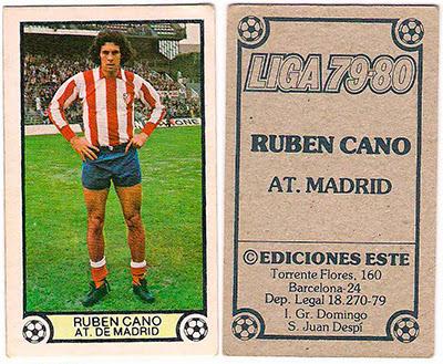 At. Madrid - Ediciones ESTE 79/80 Ruben Cano