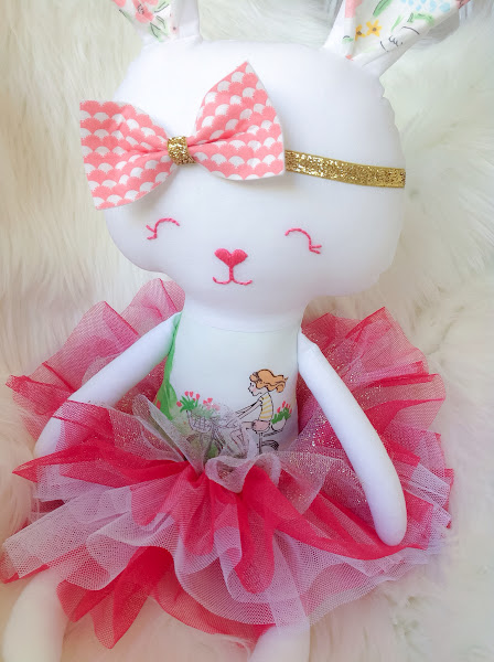 Sommer Fabric Bunny Doll Sarah Jane Studios Fabric