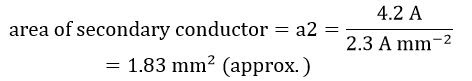 Secondary Winding Conductor Size