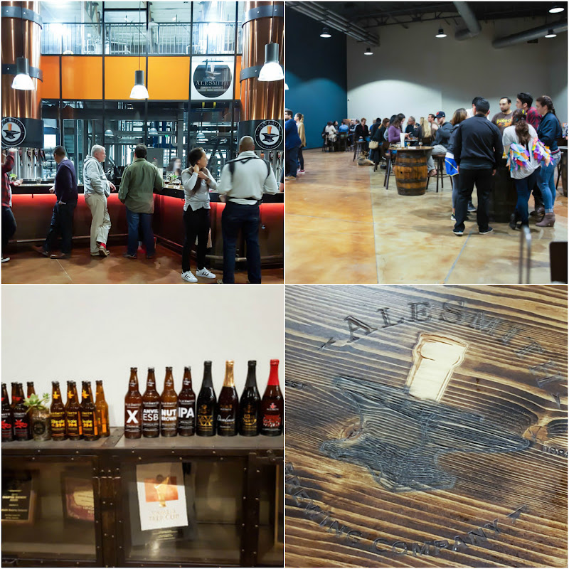 photo collage of the inside of AleSmith Brewing Company