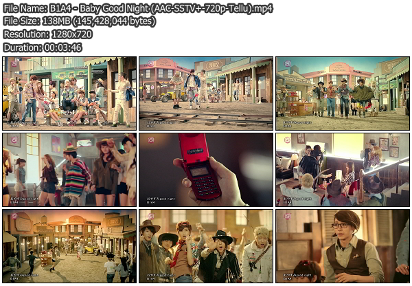 [MV] B1A4   Baby Good Night (SSTV Plus HD 720p)   x264