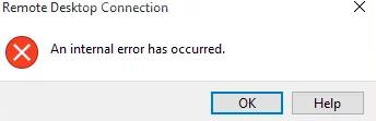 """Cách xử lý lỗi """"An internal error occurred""""  remote desktop như thế nào?"""