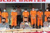 Polda Banten Tangkap 9 Penyelundup 159 Kg Ganja Antar Provinsi