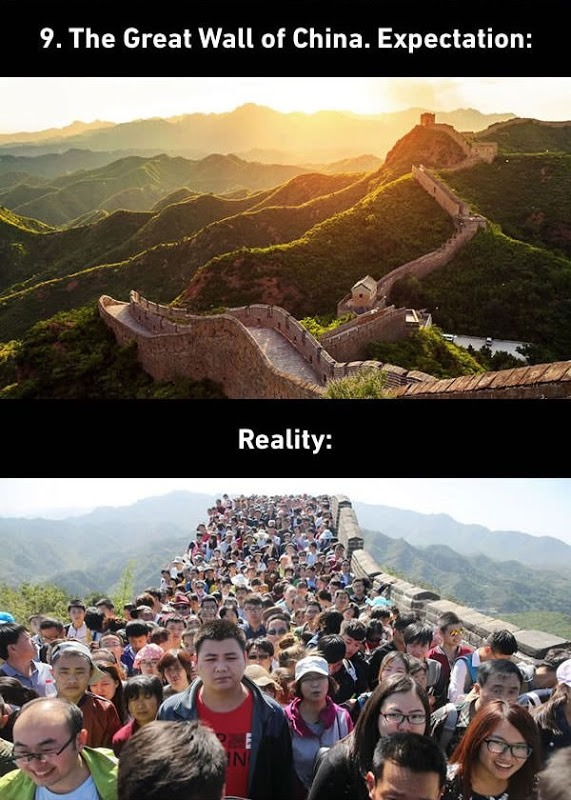 The Great Wall of China Expectations vs. Reality