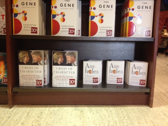 Left Bank Of The Charles Clinton And Trump Share Bottom Shelf At