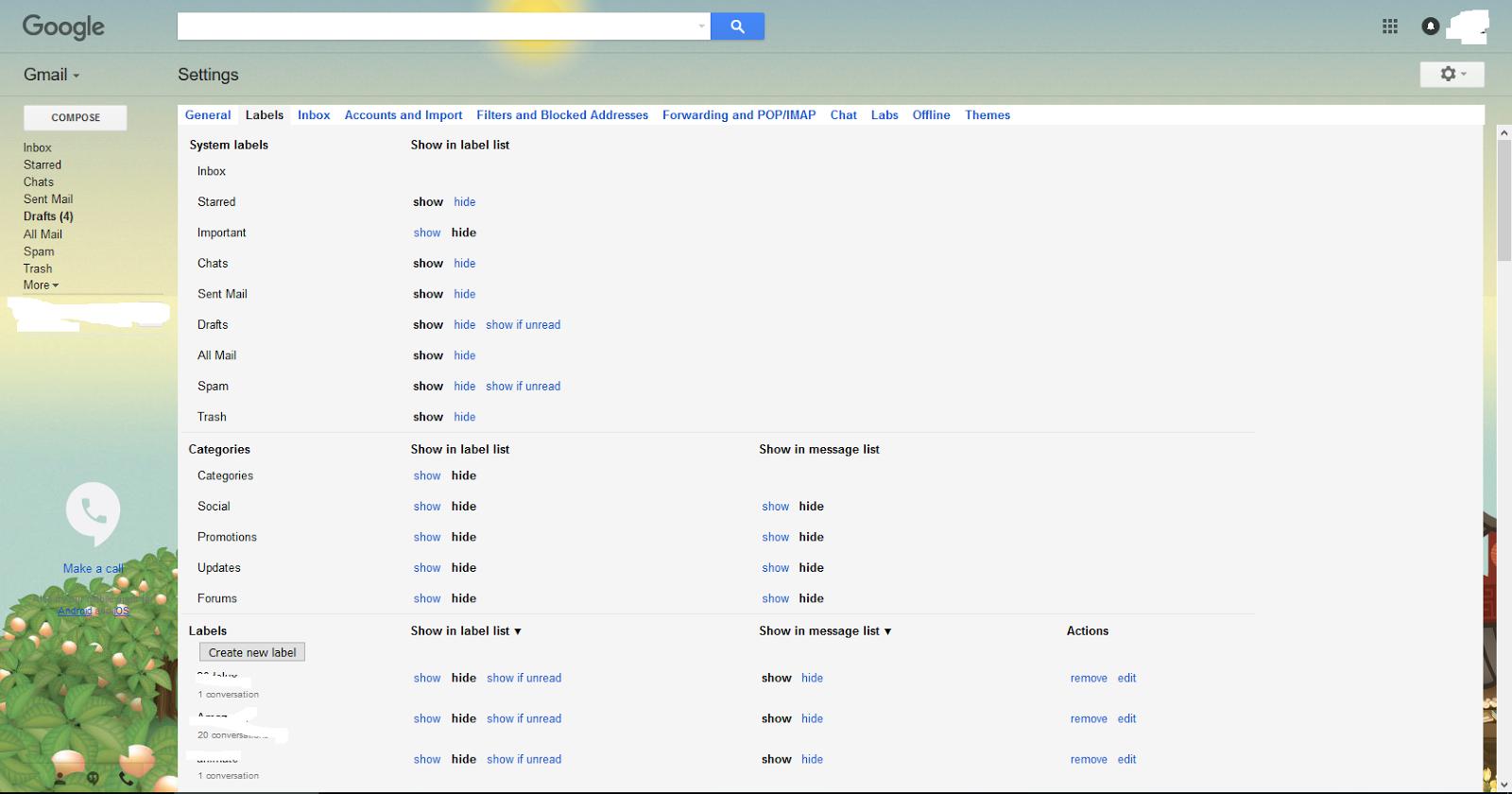 how to add folders in gmail app
