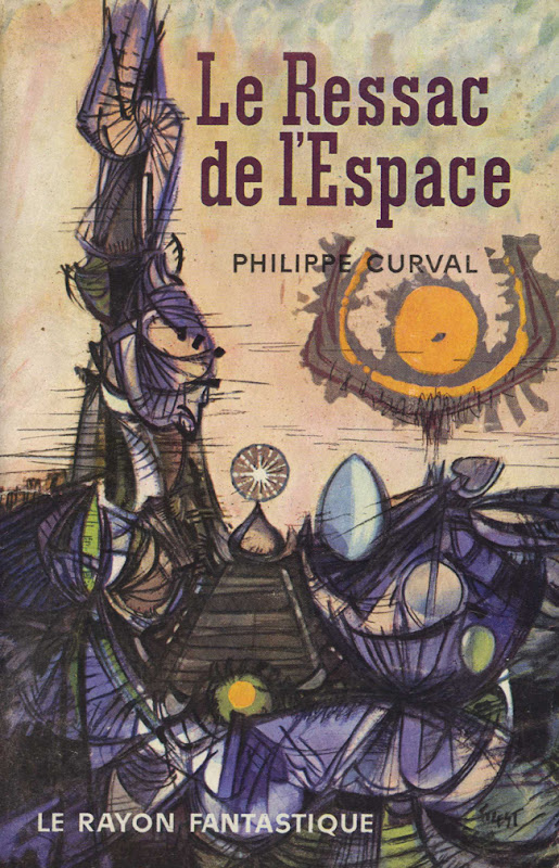 Couverture de livre de science fiction vintage : Le ressac de l'espace (Philippe Curval) - Pour vous Madame, pour vous Monsieur, des publicités, illustrations et rédactionnels choisis avec amour dans des publications des années 50, 60 et 70. Popcards Factory vous offre des divertissements de qualité. Vous pouvez également nous retrouver sur www.popcards.fr et www.filmfix.fr   - For you Madame, for you Sir, advertising, illustrations and editorials lovingly selected in publications from the fourties, the sixties and the seventies. Popcards Factory offers quality entertainment. You may also find us on www.popcards.fr and www.filmfix.fr