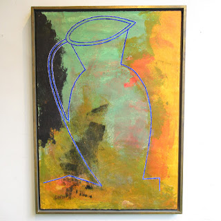 Signed Large Contemporary Still Life Painting