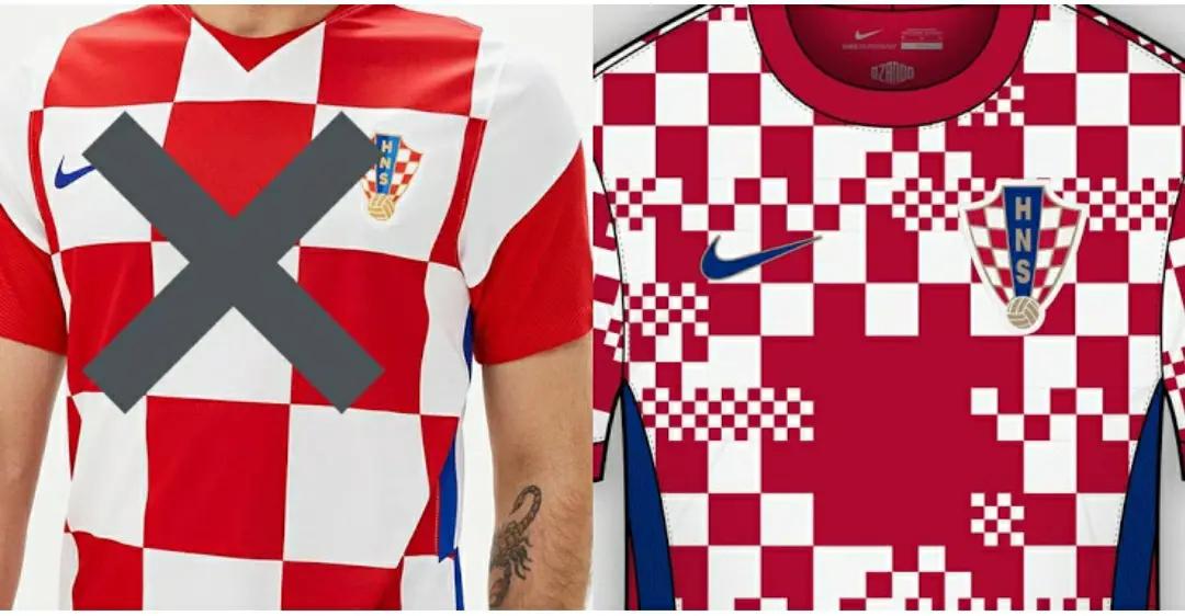 gamar foto render jersey kroasia home untuk euro 2020-2021
