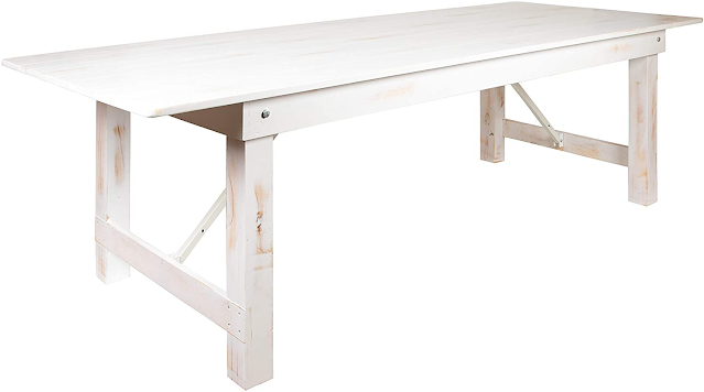 folding white pine dining table
