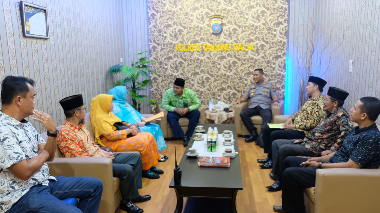 Kapolres Tanjung Balai, Terima Audiensi Organisasi Masyarakat Budaya Melayu Indonesia Kota Tanjung Balai