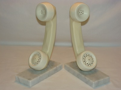 telephone headsed bookends