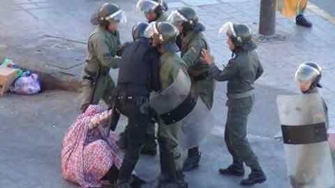 تقرير مصور عن قمع المتظاهرين الصحراويين بالعيون المحتلة