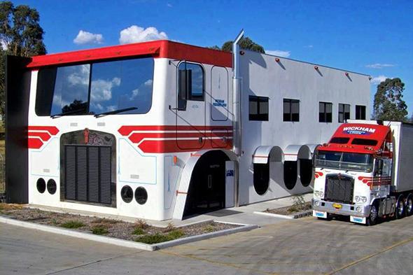 Casa con forma de camión