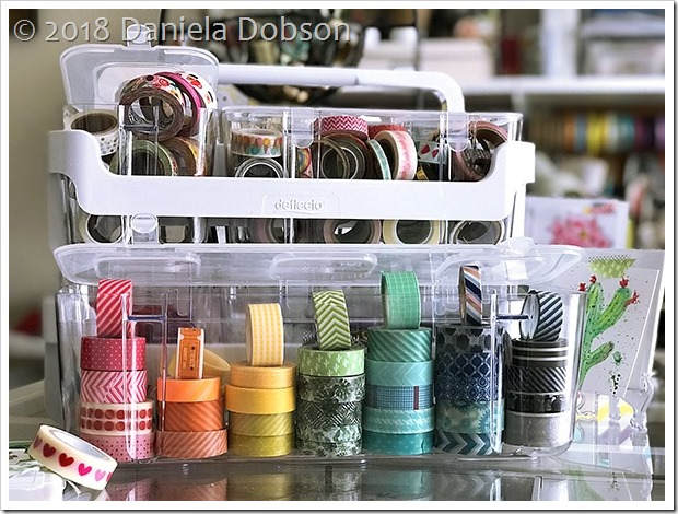 Caddy organizer washi 4 by Daniela Dobson