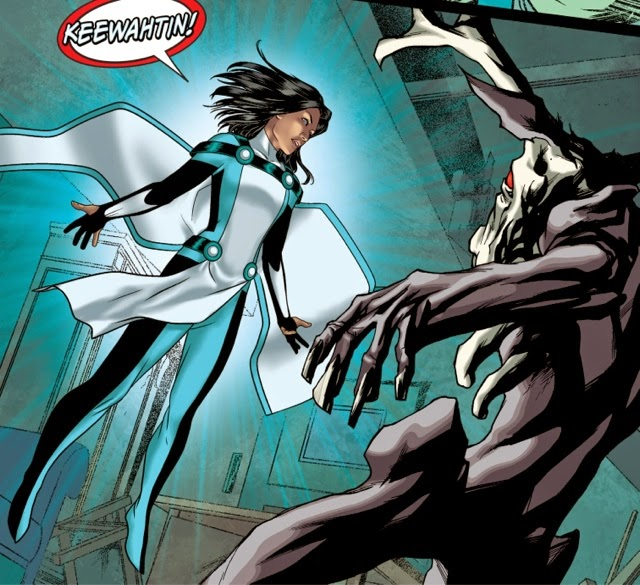 Equinox new Cree Canadian superhero in Justice League United #0