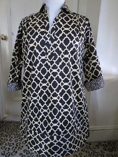 80b64d8108 I love the navy and white print on this Vail Tunic